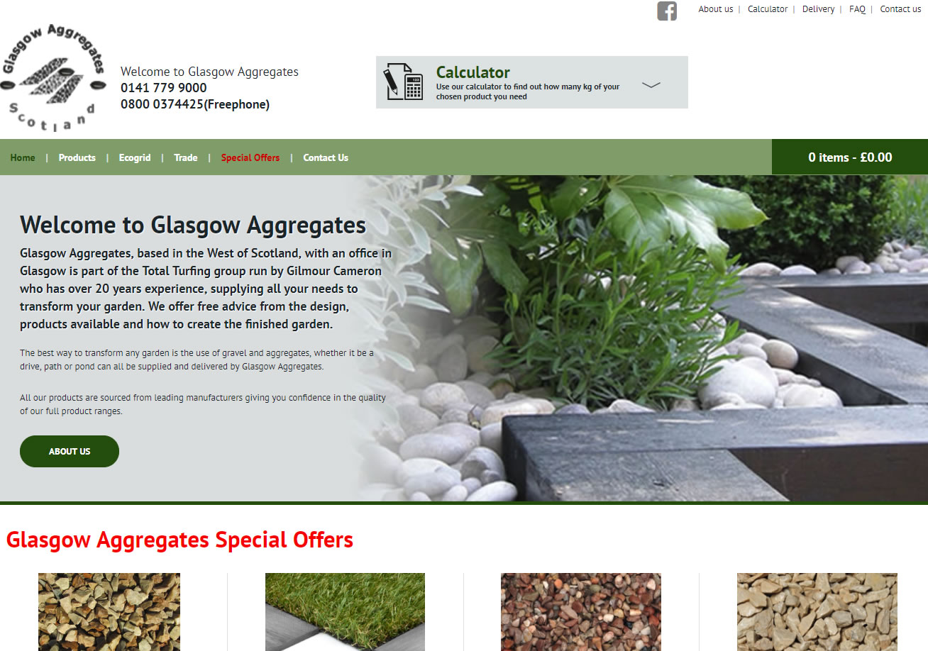 Glasgow Aggregates - Website Design Ayrshire