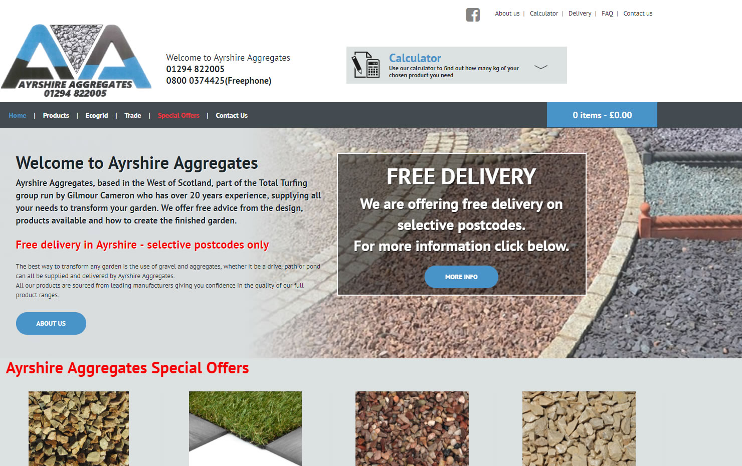 Ayrshire Aggregates - Website Design Ayrshire
