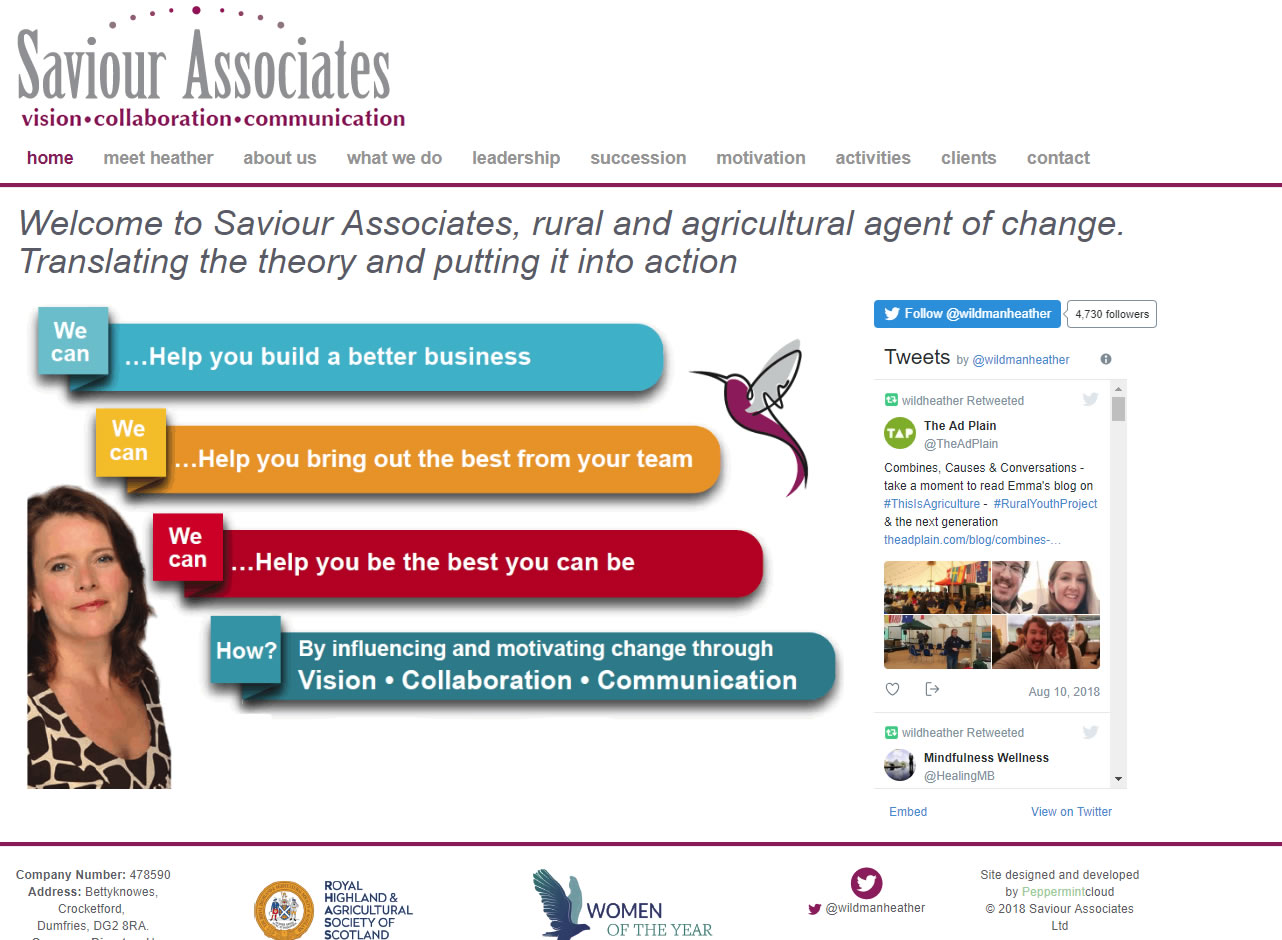 Saviour Associates - Website Design Ayrshire