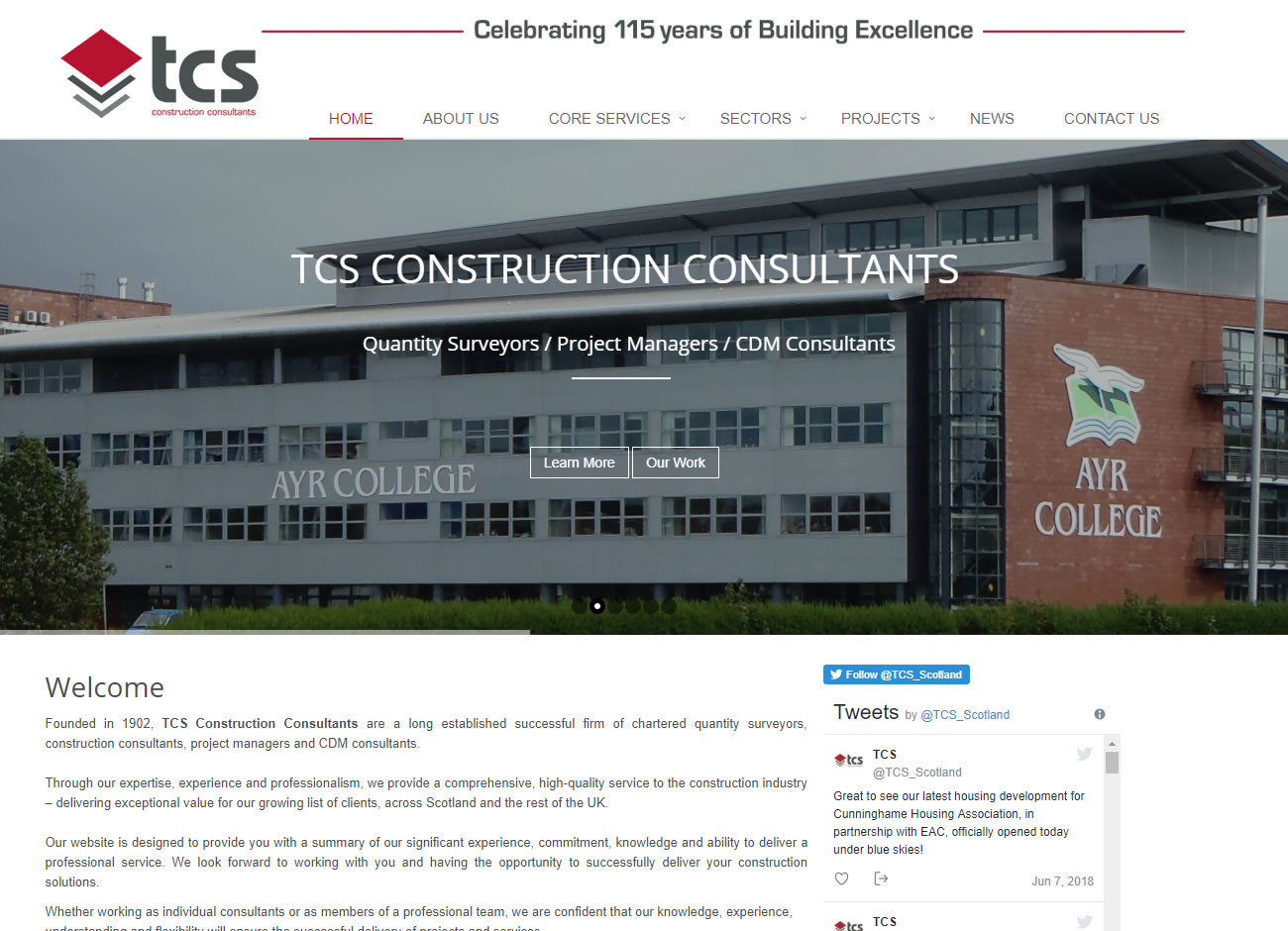 TCS Construction Consultants - Website Design Ayrshire
