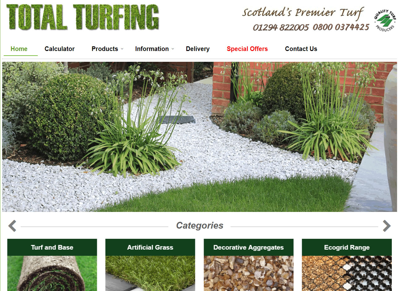 Total Turfing - Website Design Ayrshire