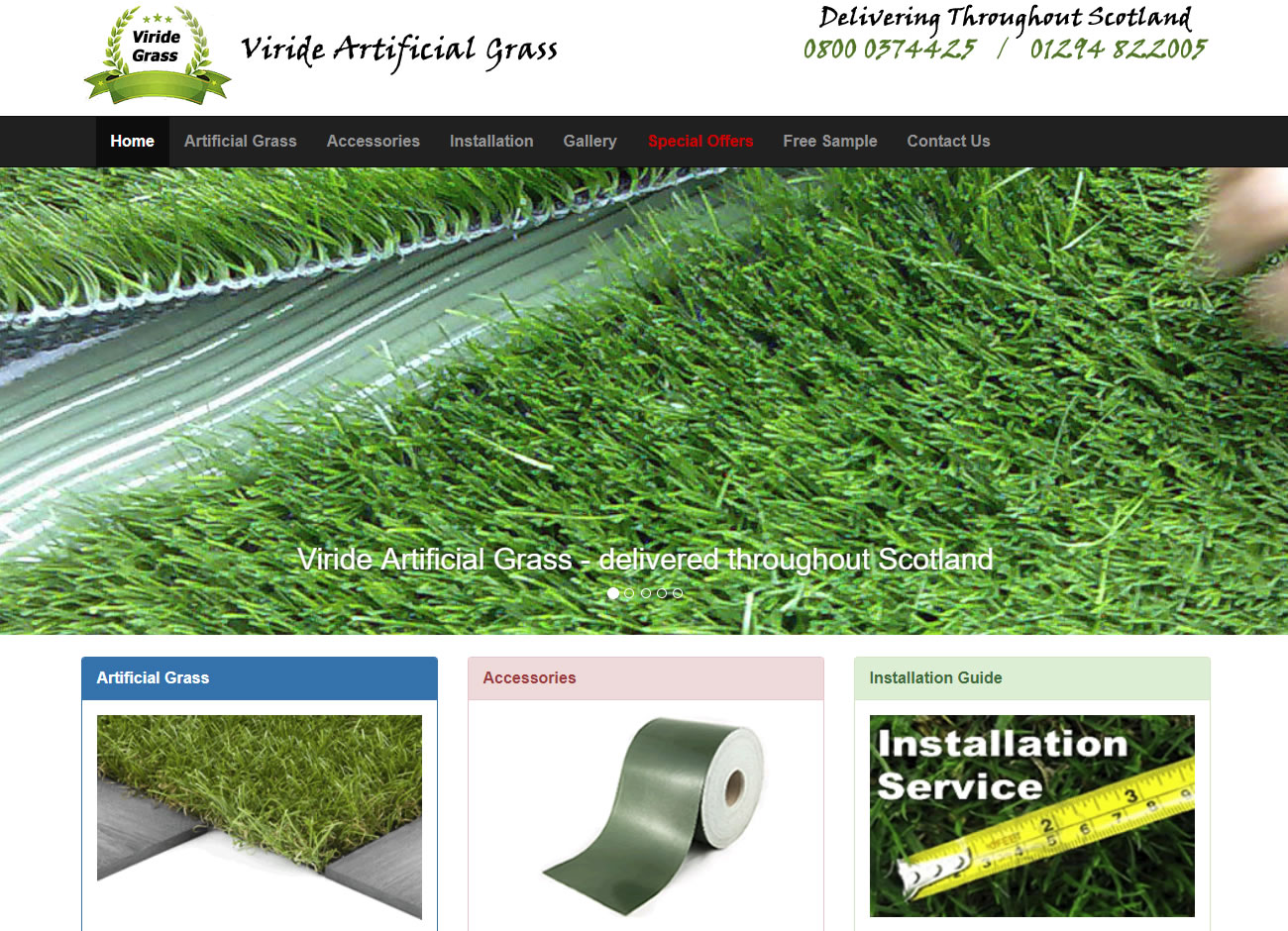 Viride Artificial Grass - Website Design Ayrshire